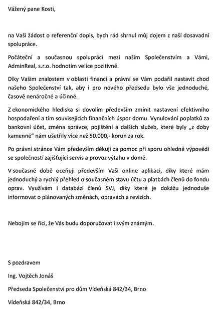 Reference Vídeňská 34